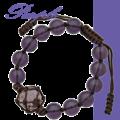 ちゅら玉サバニブレスレット紫2月