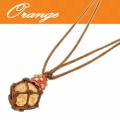 ちゅら玉 サバニペンダント橙色10月