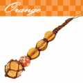 ちゅら玉サバニストラップ橙色10月