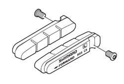 SHIMANO シマノ デュラエース9000 R55C4 カートリッジブレーキシュー & 固定ネジ(左右ペア)