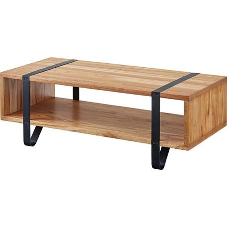 木目が美しい高級天然木ミンディを使用したナチュラルなセンターテーブル