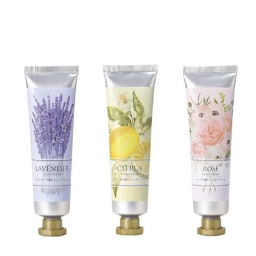 癒しの香りに包まれる エレガントハンドクリーム 3種アソート(シトラス・ラベンダー・ローズ)(1821003)