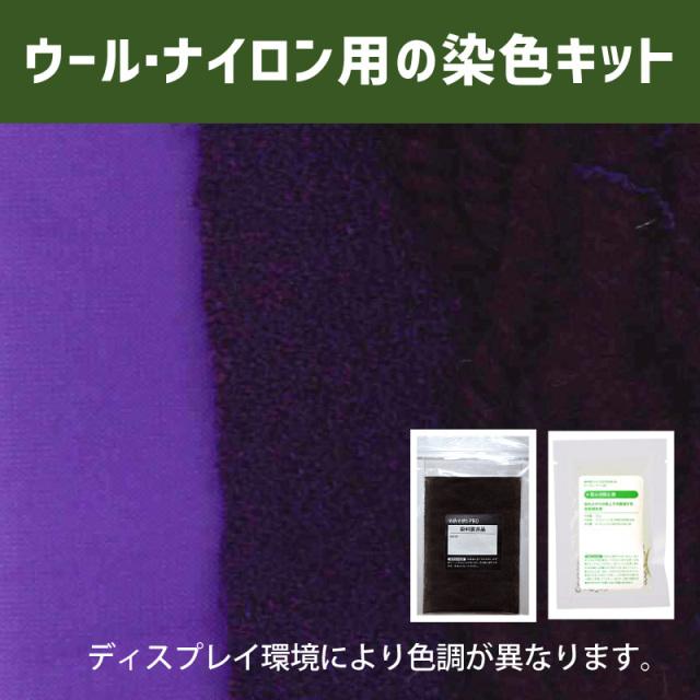 【送料無料】メール便のみ ロイヤルパープル色に染めるウール・ナイロン用の染色キット / そめそめキットPro【030】(25190-030)