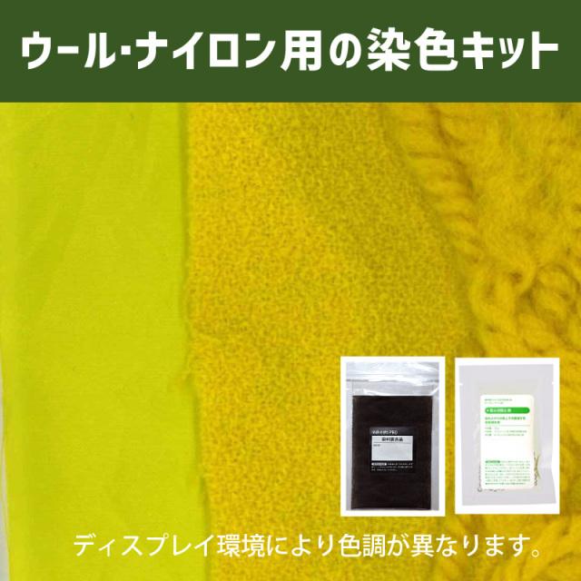 【送料無料】メール便のみ ネープルスイエロー/Naples Yellow 色に染めるウール・ナイロン用の染色キット / そめそめキットPro【121】(25190-121)