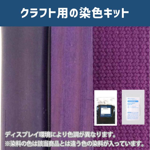 【送料無料】 メール便のみ 京紫色に染めるクラフト用キット /  染料 そめそめキットProクラフト   【090】(25220-090)