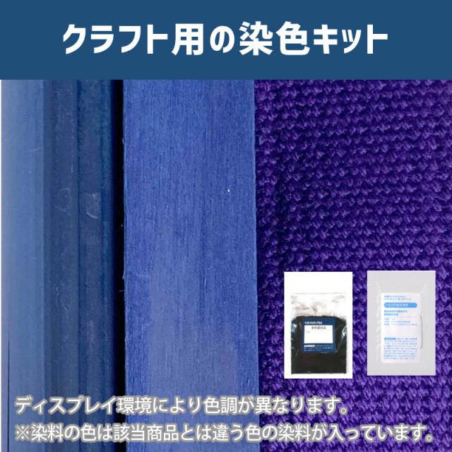 【送料無料】 メール便のみ 古代紫色に染めるクラフト用キット /  染料 そめそめキットProクラフト   【091】(25220-091)