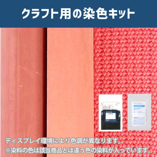 【送料無料】 メール便のみ ローズピンク色に染めるクラフト用キット /  染料 そめそめキットProクラフト    【220】(25220-220)