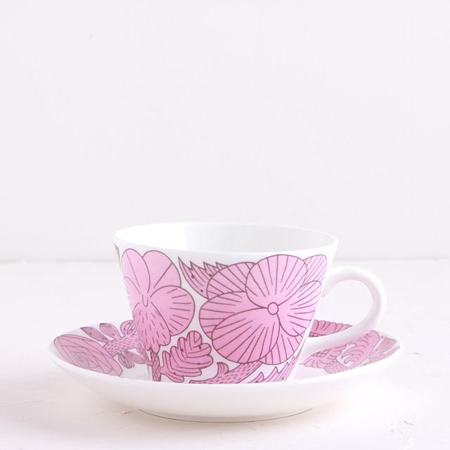 Gustavsberg/グスタフスベリ/鹿児島睦/APRIL/コーヒーカップ&ソーサー/ピンク