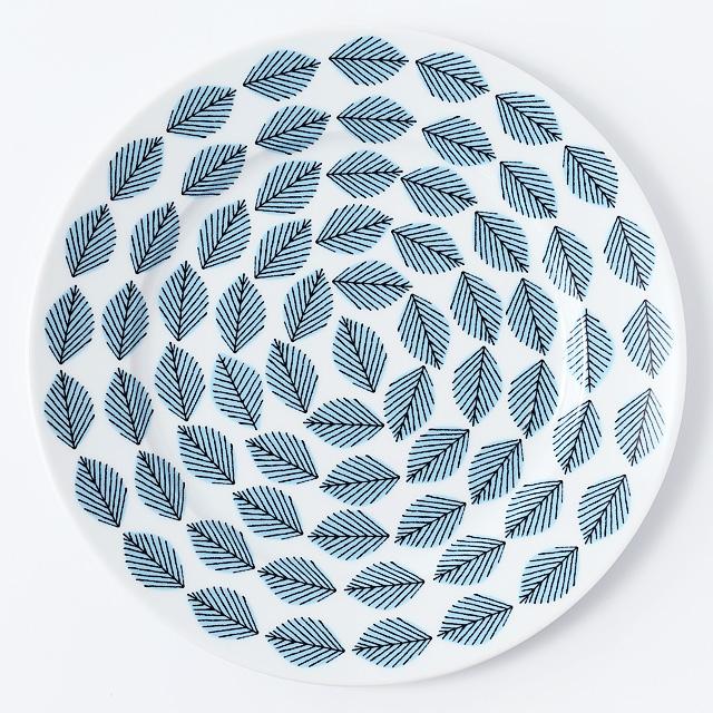 House of Rym/ハウスオブリュム/ディナープレート(27cm)/Blue leaves