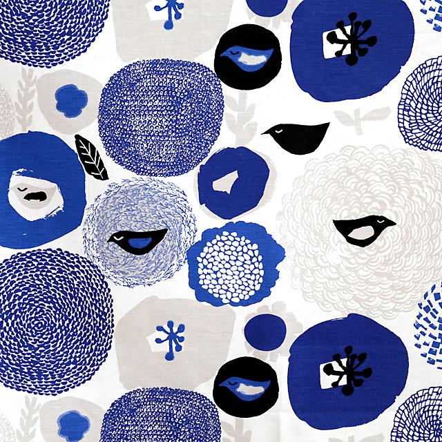 Kauniste/カウニステ/ファブリック(幅75cm×長さ50cm単位で切り売り)/サンデー(ブルー)