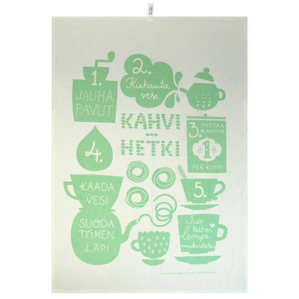 Kauniste/カウニステ/キッチンタオル/コーヒータイム(グリーン)