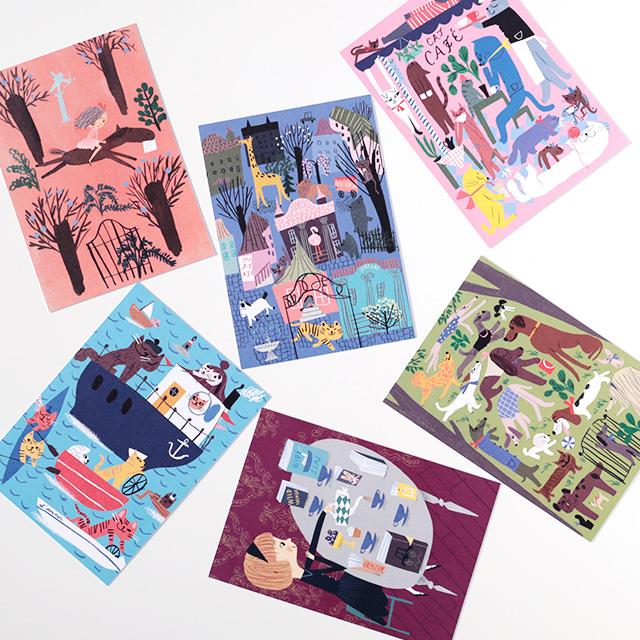 Kehvola Design/ケフボラ・デザイン/ポストカード/Marika Maijala(全6柄)