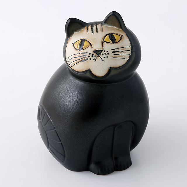 Lisa Larson/リサ・ラーソン/オブジェ/Mia Cat(ネコ)M/ブラック
