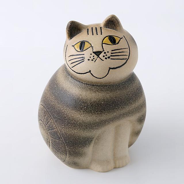 Lisa Larson/リサ・ラーソン/オブジェ/Mia Cat(ネコ)M/グレー