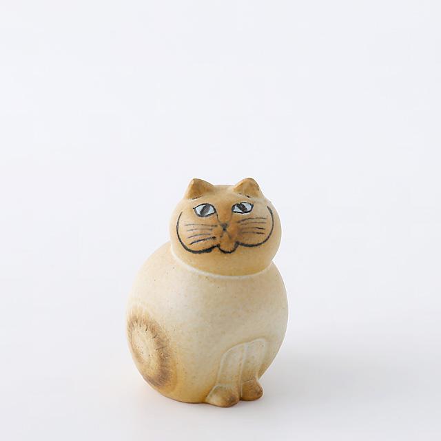 Lisa Larson/リサ・ラーソン/オブジェ/Mia Cat(ネコ)S/ホワイト×ブラウン