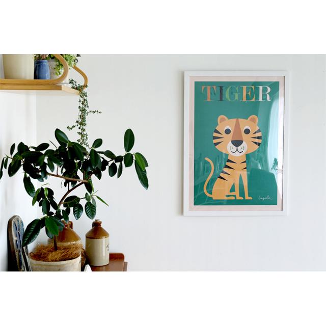 OMM-design/インゲラ・アリアニウス/ポスター(50×70cm)/タイガー