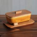 【ヴィンテージ】JIE Gantofta/ジィ・ガントフタ/チークのトレイと蓋付きバターケース