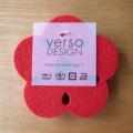 Verso Design/ベルソ・デザイン/Kukka/コースター(4枚セット)(レッド)