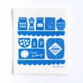 Kauniste/カウニステ/スポンジワイプ/キッチン(ブルー)