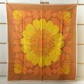 【ヴィンテージ】ファブリック/オレンジとイエローの花柄