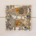 【ヴィンテージ】Lisa Larson/リサ・ラーソン/陶板/UNIK/Faglar/二羽の鳥