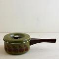 【ヴィンテージ】スウェーデン/SKULTUNA/レトロなりんご柄の片手鍋