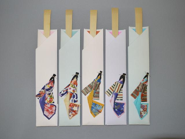 和紙むすめ箸 (5膳組)