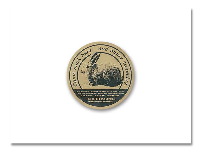 メタルステッカーウサギ