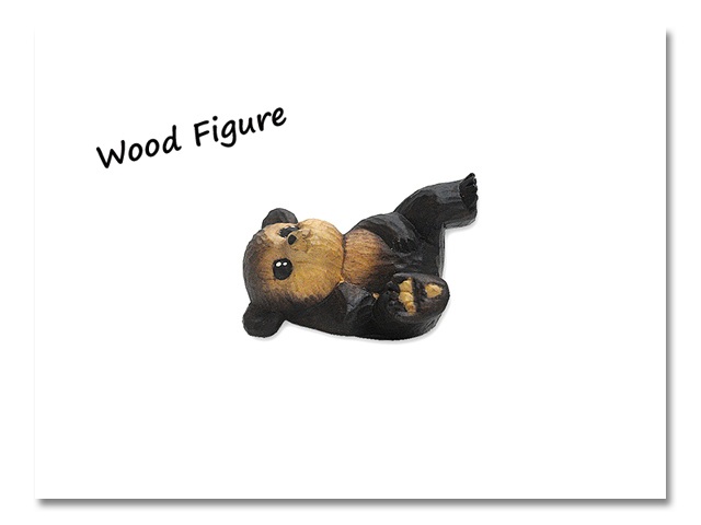 小熊出没 WOOD CRAFT FIGURE 緑