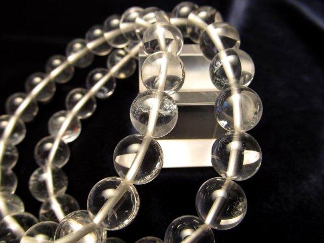 ボリビア産インカクリスタルブレスレット 水晶 透明タイプ 8.0-8.5mm×23珠前後