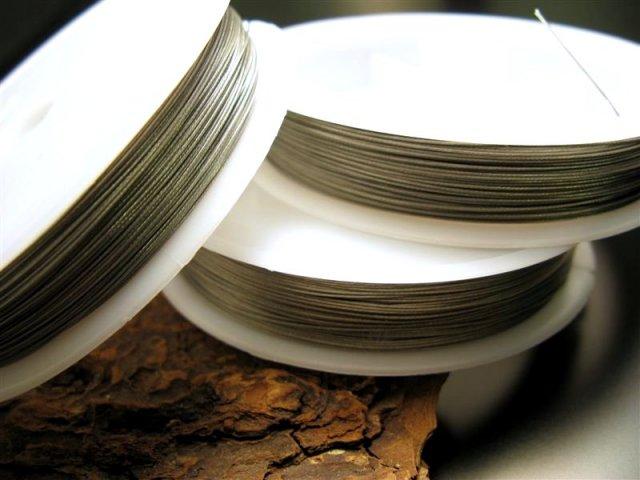 ワンロール398円 ストラップ ネックレス用 ワイヤー たっぷり50m 7本より線 各サイズ 激安副資材 コムローズ 天然石 ビーズ