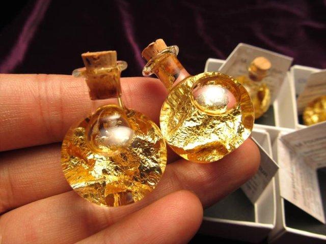 C フランス サン マリー商品 風水 インテリアに 高級感抜群 22金ゴールド GOLD 22K 入りミニボトル ボトルタイプc