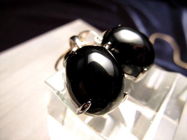 粒 5A宝石質 チベット産 天然チベットモリオン 黒水晶 ぷっくりオーバル ペンダントトップ 縦17ミリ×横13ミリ