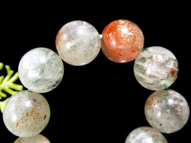 希少なアルーシャ産 アルーシャサンストーン(フェルドスパーサンストーン) ブレスレット 9.5mm-10mm×20珠 ふんわりグリーンに映えるオレンジのアベンチュレッセンス 太陽の石 一点もの タンザニア アルーシャ州産 sai
