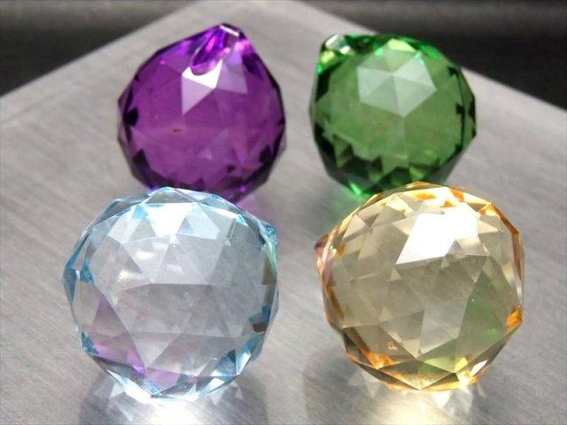 値下げ中 アクリルビーズ ミラーボール 直径31mm 青 黄 緑 紫