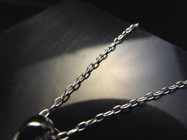 CHN096 高品質Silver925 ペンダントトップの相方 ロングあずきチェーン チェーン長さ45cm 幅約1.4mm 金具最大幅約3.2mm CHN096
