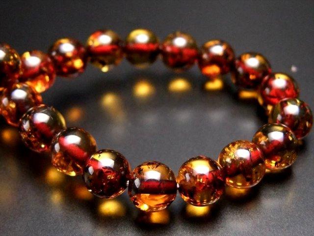 超透明 蜂蜜色 ダークハニーナッツカラー AAAAAアンバー リトアニア産の天然琥珀 ブレスレット 6.5-7mm×27珠
