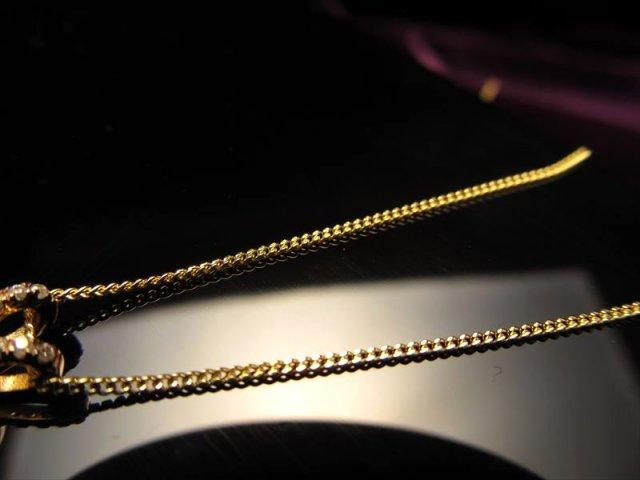 18金ゴールド仕様 CHN152 45cm 喜平チェーン ペンダントトップの相方 チェーン長さ45cm 幅約1mm 金具最大幅約6mm 高品質Silver925