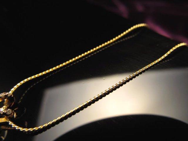 18金ゴールド仕様 CHN153 45cm スネークチェーン ペンダントトップの相方 チェーン長さ45cm 幅約0.8mm 金具最大幅約6mm 高品質Silver925