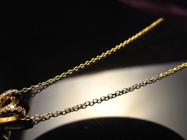 18金ゴールド仕様 CHN155 45cm あずきチェーン ペンダントトップの相方 チェーン長さ45cm 幅約0.8mm 金具最大幅約6.6mm 高品質Silver925