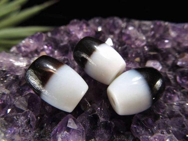 小天珠 A至純天珠 黒白天珠(くろしろてんじゅ) サイズ:約14ミリ 980円 極上 天然石 ビーズ パワーストーン