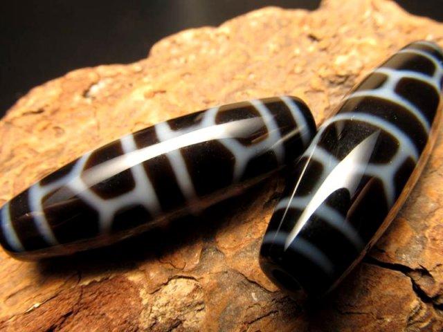 A至純天珠 亀甲長寿天珠(きっこうちょうじゅてんじゅ) サイズ:約37ミリ 極上 天然石 ビーズ パワーストーン
