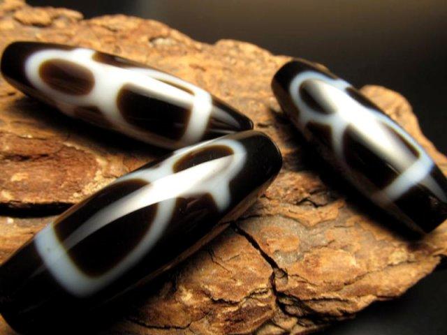 A至純天珠 財神天珠(ざいじんてんじゅ) サイズ:約37ミリ 極上 天然石 ビーズ パワーストーン