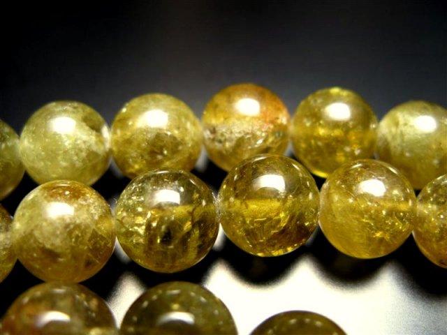 一連破格 10mm珠 グリーンガーネット 約40cm 極上 天然石 ビーズ パワーストーン