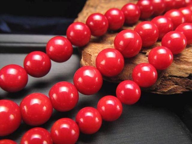 激安宣言 8mm珠 美品レッドコーラル(珊瑚) 一連 約39cm 天然石 連売り ビーズ パワーストーン ビーズ geki