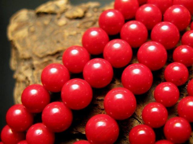激安宣言 10mm珠 美品レッドコーラル(珊瑚) 一連 約39cm 天然石 連売り ビーズ パワーストーン ビーズ geki