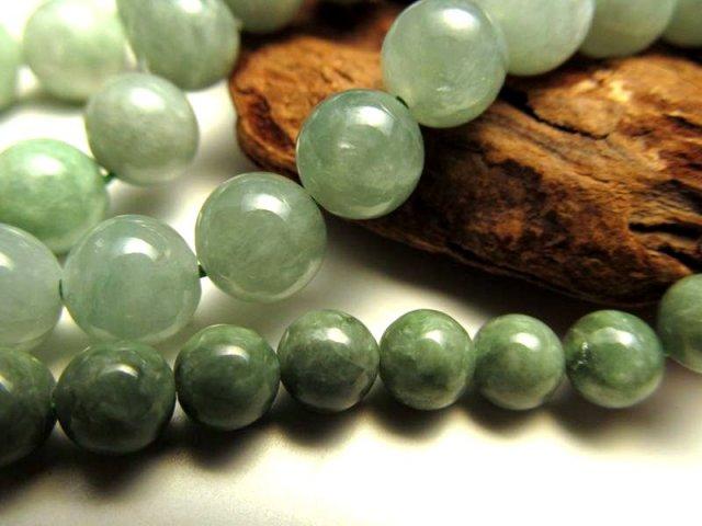 10mm珠 一連 翡翠(ミャンマージェイド) 約40cm 極上 天然石 ビーズ パワーストーン