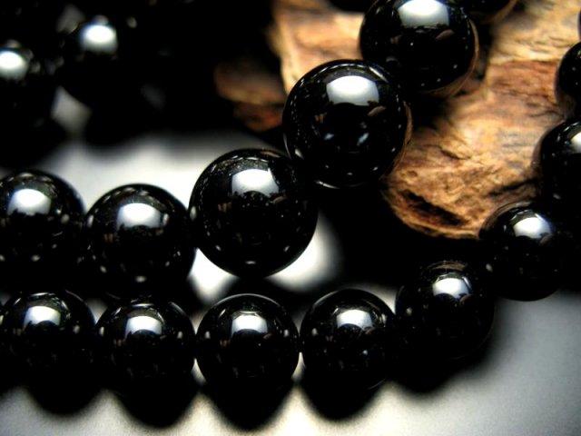 激安宣言 AA 12mm珠 ブラックトルマリン 約39cm 一連 ブラジル産 geki