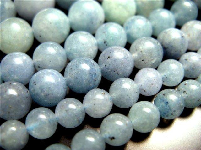 一連破格 14mm珠 ブルーアベンチュリン 約40cm 極上 天然石 ビーズ パワーストーン