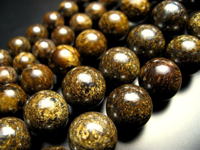 激安宣言 8mm珠 ブロンザイト(古銅輝石・古銅石) 一連 約40cm geki